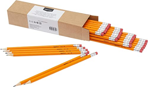Amazon Basics Woodcased #2 Pencils, Pre-sharpened, HB Lead, Box of 30