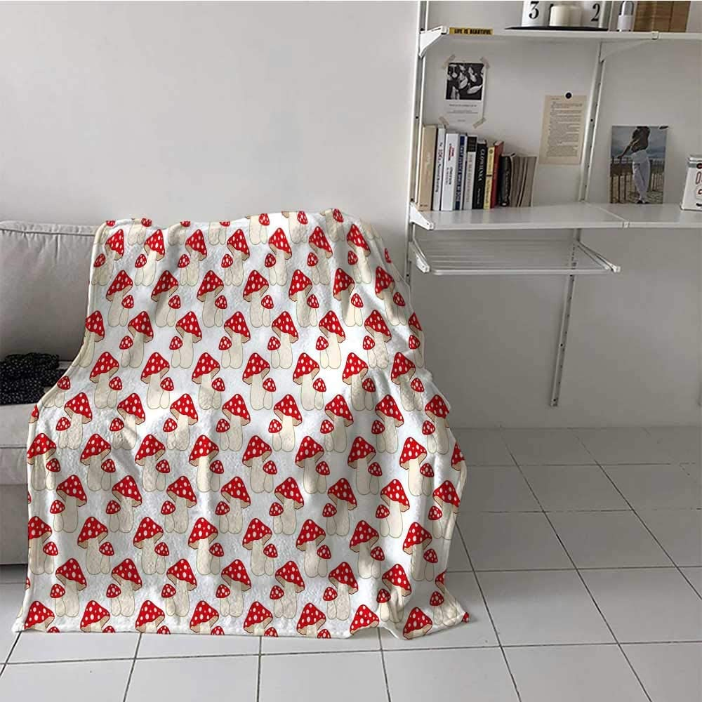 Throw Blanket Mushroom Winter Cartoon Blankets Super intense SALE Warm Style 2021 autumn and winter new