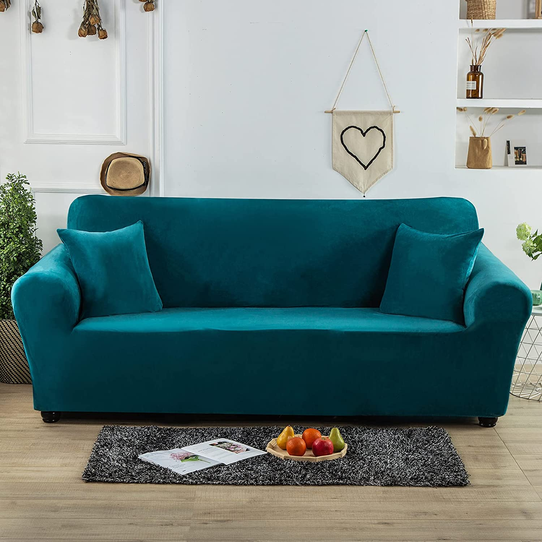 Homcosan Stretch Velvet Sofa Max 53% Very popular OFF Slipcovers C Thick Soft Luxury