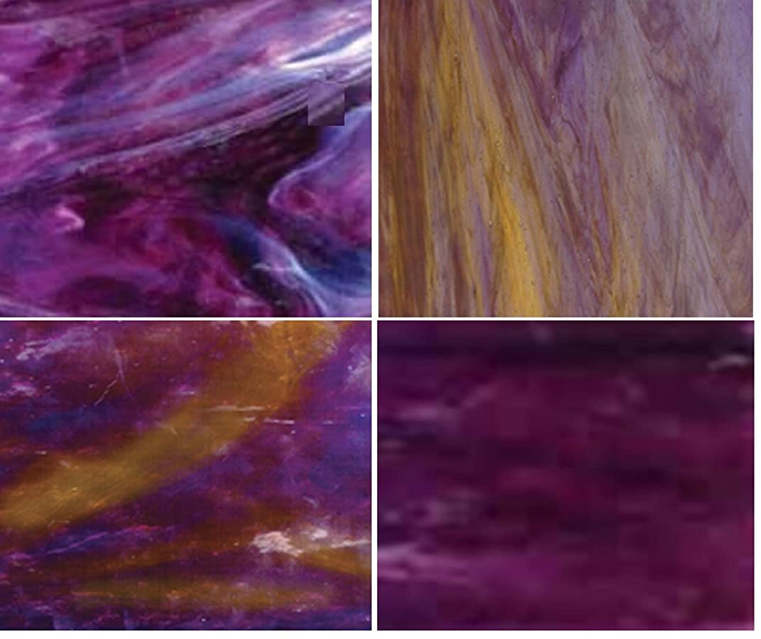 Wissmach Stained Glass Sheet Pack - Purple : Season Colors