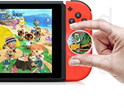 NFC Tag Game Cards for Animal Crossing New Horizons with Card Holder for Switch/Switch Lite/Wii U with Crystal Case Round - 50pcs Mini Amiibo Coin Size Cards with Crystal Case