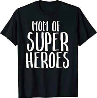 Mom of Super Heroes Mother Vintage Funny Movie T-Shirt