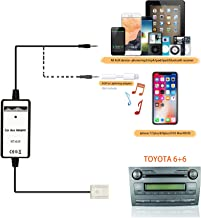 Auxillary Adapter,Wyness AUX Car MP3 Player Radio Interface AUX in Adapte 3.5mm for Toyota (6+6) Camry Tacoma Corolla Tundra RAV4 Yaris Lexus RX330 GS300 IS220 Scions Xa XB TC