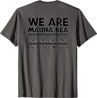 BACK DESIGN Tribal Black We Are Mauna Kea T-Shirt
