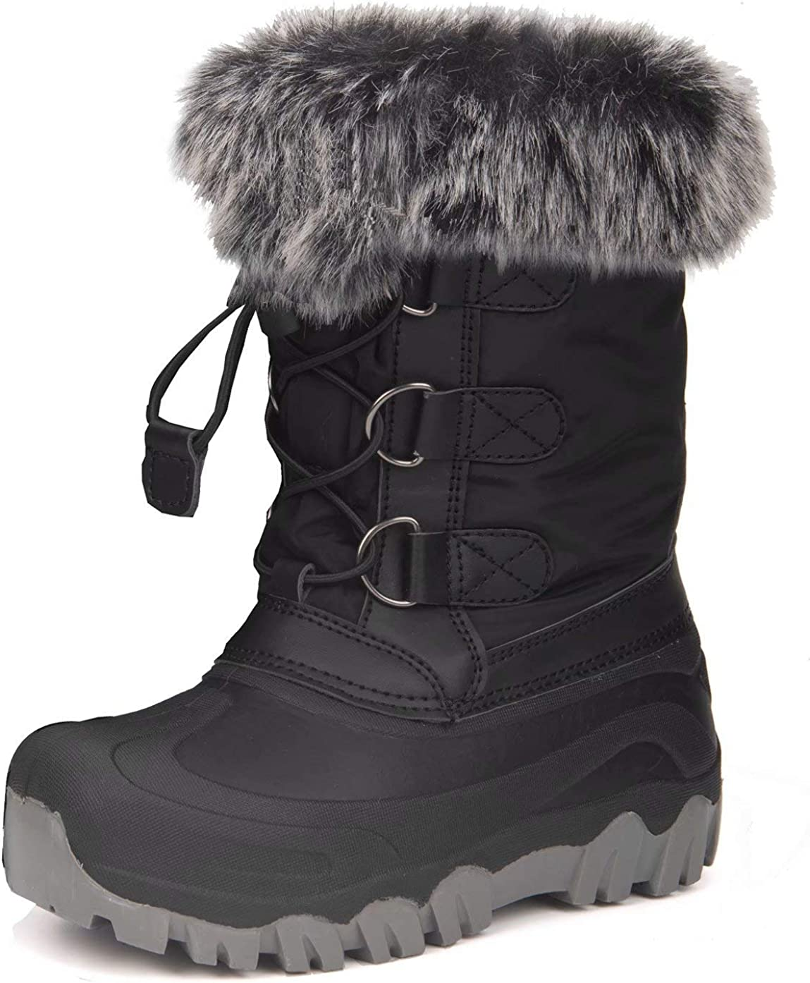 HugRain Warm Winter Outstanding Don't miss the campaign Snow Boots with for Toddler Fur K Lined Faux