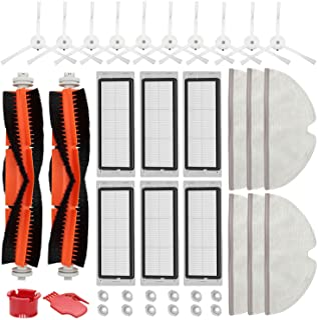 RONGJU Accessories Kit for Roborock S4 S5 S6 E20 E25 E35 S50 Xiaomi Mi Mijia Robotic Vacuum Cleaner, 2 Main Brush, 10 Side...