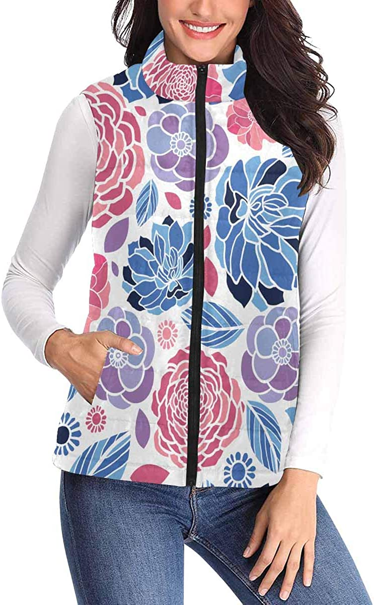 InterestPrint Tulsa Mall Women's Quilted Puffer Warm Winter Max 78% OFF Vest with