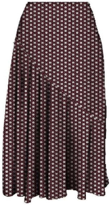 Comaba Women Dashiki Stylish Printing Pleated Africa Comfort A Line Skirts