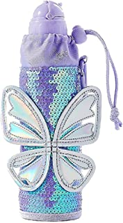 Justice for Girls Sequined Butterfly Sleeved Water Bottle