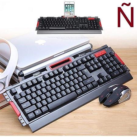 HK50 Teclado Gaming y Raton 800-2400 dpi inalambrico 2.4GHz En español Letra Ñ