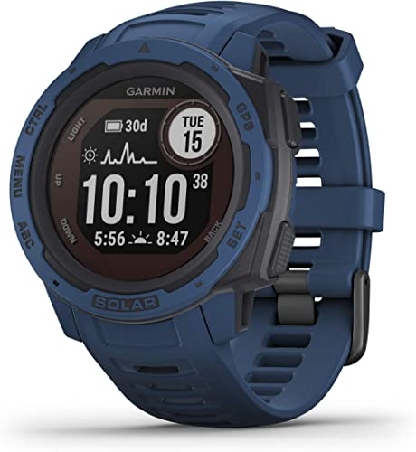 Garmin Instinct Solar, Rugged Outdoor Smartwatch with Solar Charging Capabilities, Built-in Sports Apps and Health Mo...