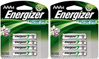 Rechargeable AAA Batteries, NiMH, 800 mAh, Pre-Charged, 4 Count (Recharge Power Plus) - EVENH12BP4, 2 Pack
