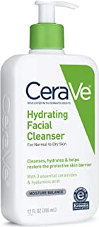 CeraVe Hydrating Facial Cleanser, Normal To Dry, 12 Ounces each, Pack of 3