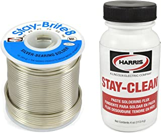 Harris Solder Kit SB831 & SCPF4 - Stay-Brite #8 Silver Bearing Solder with Flux