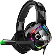 ZIUMIER Gaming Headset Xbox One Headset, PS4 Headset with Noise Canceling Mic and RGB Light, PC Headset with Bass Surround Sound, Over Ear Headphones for PC, PS4, Xbox One, Laptop