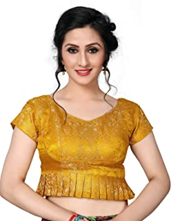 930406292dd1d4 Amazon.in: Yellows - Blouses / Ethnic Wear: Clothing & Accessories