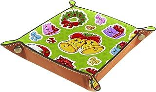 Vockgeng Cloche de Noël Boîte de Rangement Panier Organisateur de Bureau Plateau décoratif approprié pour Bureau à Domicil...