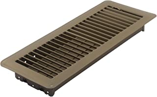 Accord ABFRBR412 Floor Register with Louvered Design, 4-Inch x 12-Inch(Duct Opening Measurements), Brown