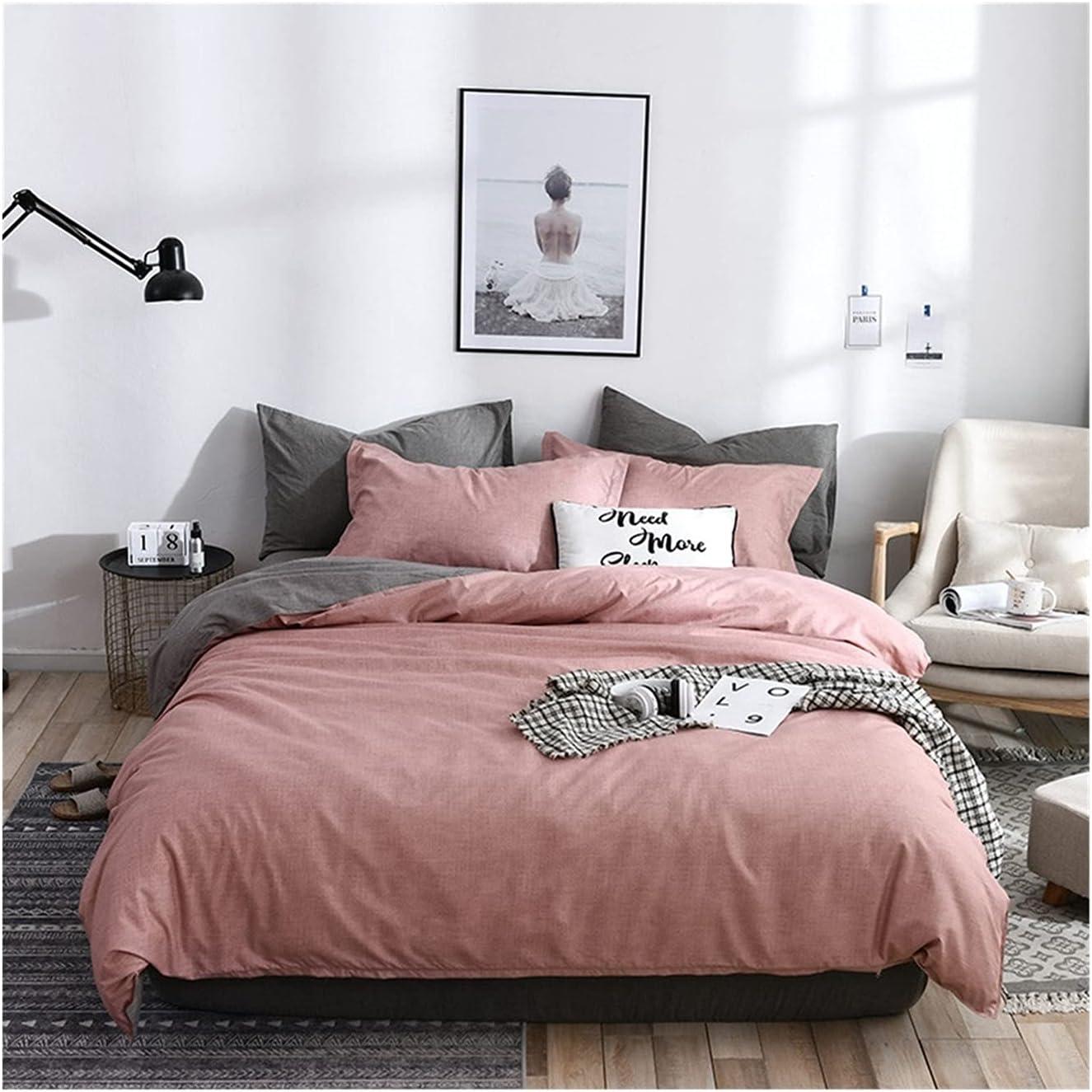 25% OFF LSDJ QMDSH Boston Mall Home Textile Girl Bedding Duvet Set Cover Peach Pink