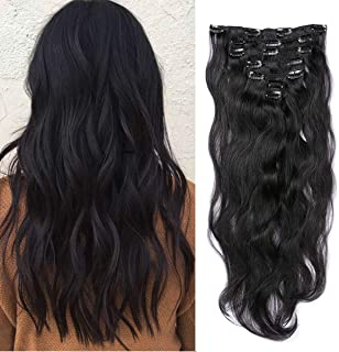 Body Wave Clip in Hair Extensions Double Weft 100% Remy Human Hair 18