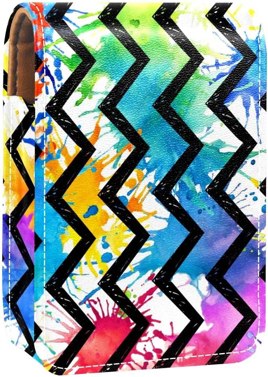 Lipstick Case Rainbow Popular brand in the world Painted Splatters Stripes Chevron Black On Ranking TOP11