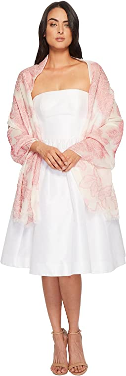 Betsey Johnson - Silky Burnout Floral Draped Evening Wrap