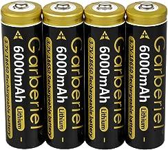 18650 Batteries Rechargeable Li-ion 3.7V 6000 mAh for Flashlight Headlamp (4)
