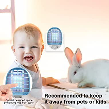 Bug Zapper, Fly Traps for Indoor Insects & Mosquito Killer, Bug Killer with Blue Light for Home, Kitchen, Bedroom, Baby R