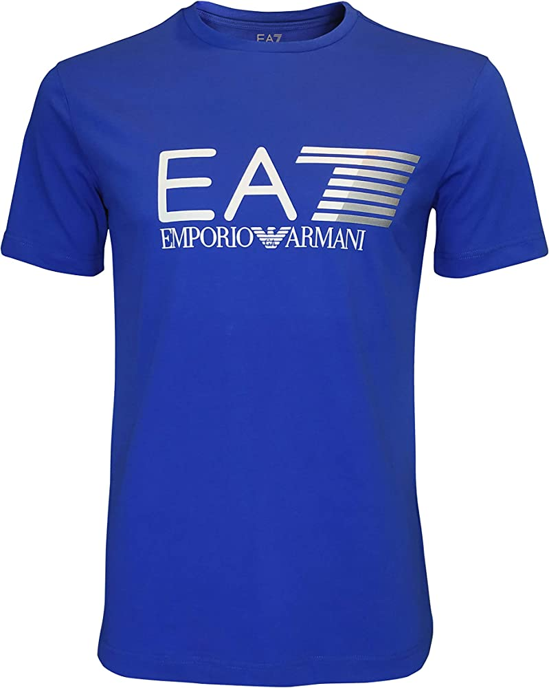Emporio armani ea7 t-shirt, maglietta maniche corte per uomo, girocollo, 95% Cotone, 5% Elastan 3ZPT62 PJ03Z