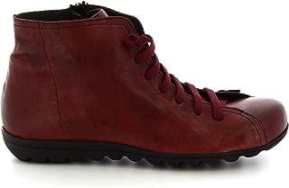 LEONARDO SHOES Luxury Fashion Womens 2177RED Red Hi Top Sneakers   Season Permanent