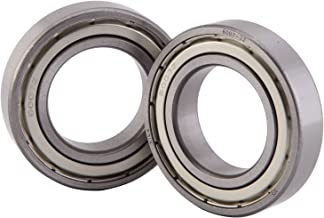 XiKe 2 Pack 6007ZZ Bearings 35x62x14mm, Stable Performance, Cost-Effective, Double Shield and Pre-Lubricated, Deep Groove Ball Bearings.