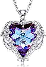 CDE Angel Wing Necklaces for Women Christmas Jewelry Gifts Embellished with Crystals from Swarovski Pendant Necklace Heart of Ocean Jewelry with GIF Boxt
