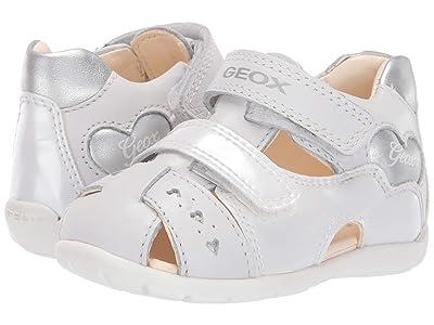 Geox Kids Kaytan Girl 53 (Infant/Toddler) (White/Silver) Girl