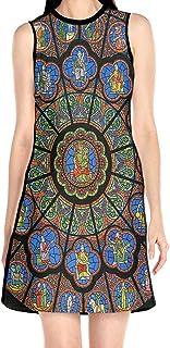 ブラックローズ ノートルダム大聖堂 花柄ワンピース ワンピース レディース カジュアル 夏物 夏服 スカート おしゃれ 洋服 ファッション 流行る