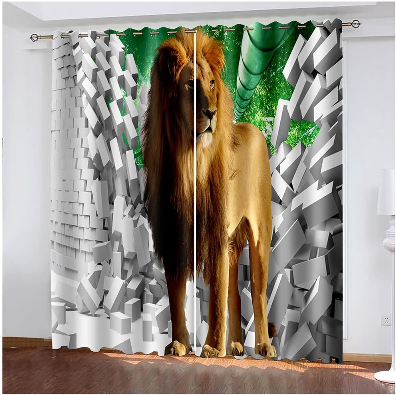 Curtain for Living Room Panels 2 Drapes 35% OFF New Shipping Free Shipping Darkeni