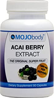 MOJObody Acai Berry Extract, 1500mg 90 Capsules,The Original Super Fruit, Boost Energy, Combats Free Radicals