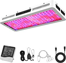 Phlizon 2018 Newest 2000W High Power Series Plant LED Grow Light,with Thermometer Humidity Monitor,with Adjustable Rope,Double Chips Full Spectrum Grow Lamp for Indoor Plant