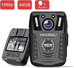 "Rexing P1 Body Worn Camera, 2"" Display 1080p Full HD, 64G Memory,Record Video, Audio.."