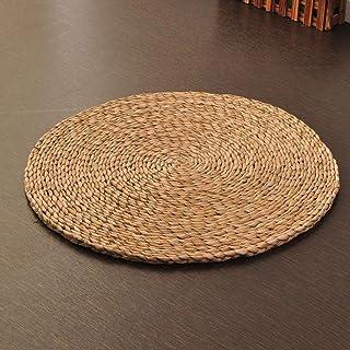 YAOHM 5 Taille Chaude Naturel De Paille Ronde Pouf Tatami Coussin Coussins De Sol M/éditation Yoga Rond Tapis Zafu Chaise Coussin,40x40cm