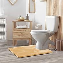 Clara Clark Contour Bath Mat Bathroom Rug - Absorbent Memory Foam Bath Rugs - Non-Slip, Thick, Cozy Velvet Feel Microfiber...