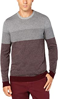 Tasso Elba 100% Supima Cotton Imola Block Pullover Lightweight Sweater