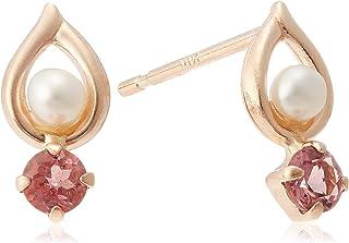 [CHIARO DI DIAMANTE] CHIARO DI DIAMANTE K10粉红金 淡水珍珠&粉色碧玺花边 CHS599