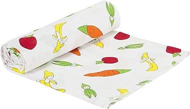Under the Nile Organic Cotton Unisex Baby Fruit and Veggie Print Muslin Swaddle Blanket