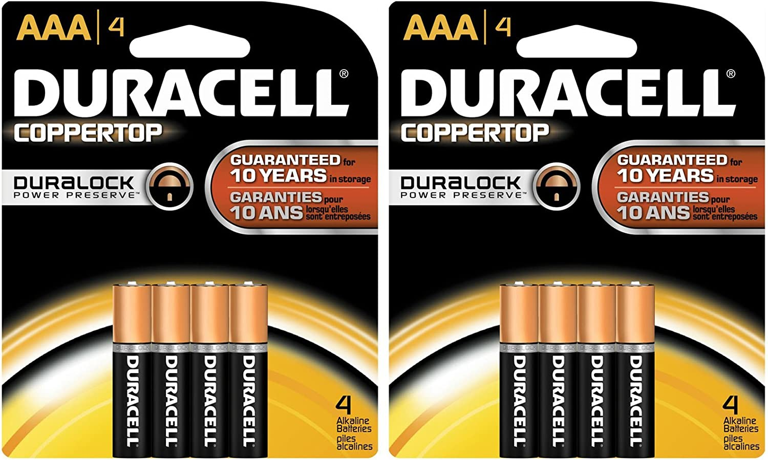 Duracell Coppertop AAA 4ct 2pk Batteries Don't Popular brand in the world miss the campaign