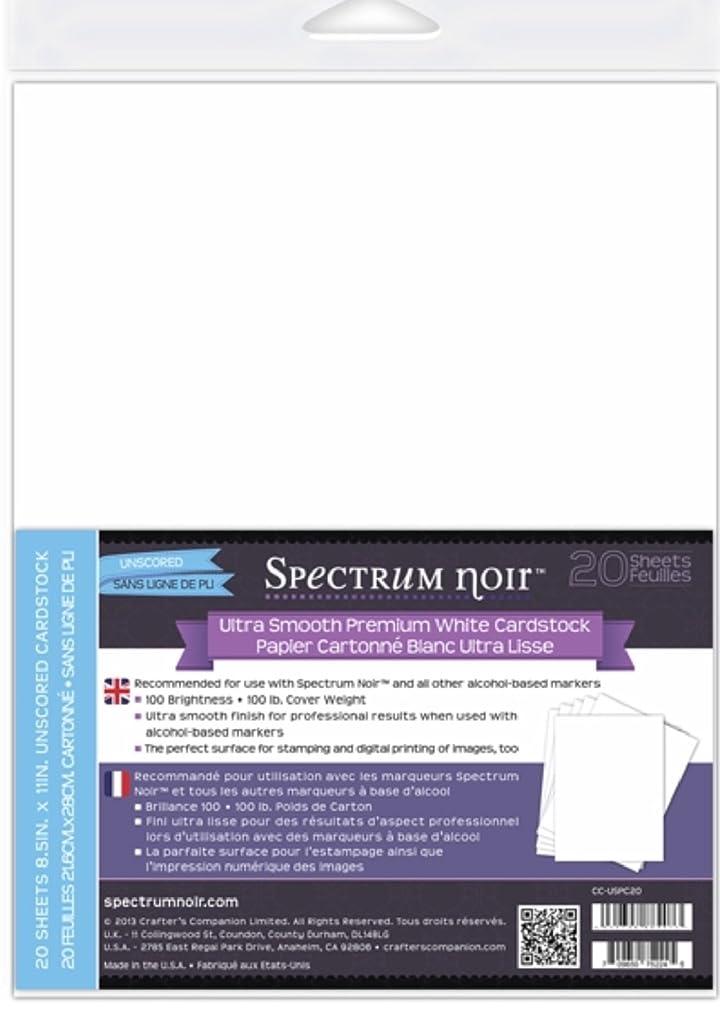 Spectrum Noir Ultra Smooth Premium Cardstock 8.5x11 20/Pkg-White
