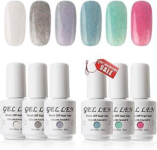 Gellen Gel Nail Polish Set, New Fashion Fur Gel Series - 6 Popular Colors Nail Art Home Gel Manicure