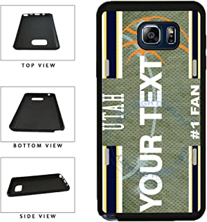 BleuReign(TM) Personalized Basketball Utah License Plate TPU RUBBER SILICONE Phone Case Back Cover For Samsung Galaxy S8