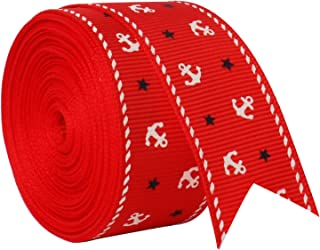 Red Fabric Ribbon for Crafts Mother's Day Gift Wrap Ribbons, 16.4 ft