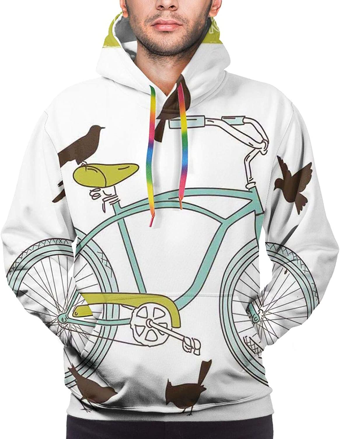 Men's Hoodies Sweatshirts,I Love Math Theme Objects Heart Icon Calculator Compass and Ruler