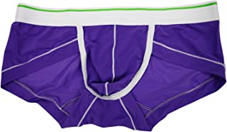 Petalum Hot Men Underwear Comfortable and Cool Briefs Sexy Boxers Underpants Solid Silk Smooth